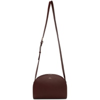 Burgundy Demi-Lune Bag