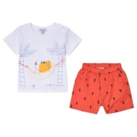 Absorba White Fruit Holiday Print T-Shirt and Shorts Set