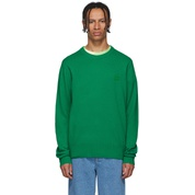 Green Wool Nalon Face Sweater