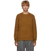 Brown Cashmere & Wool Peele Sweater