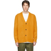 Orange Wool Cashmere V-Neck Cardigan