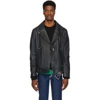 Acne Studios SSENSE Exclusive Grey Leather Nate Clean Jacket