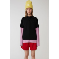 Acnestudios Polo shirt black / pale pink