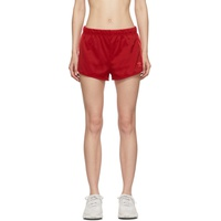 Red 3-Stripe Shorts