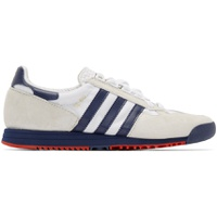 White & Navy SL 80 Sneakers