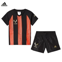 Adidas Performance Red and Black Boys Messi Shorts and Tee Set