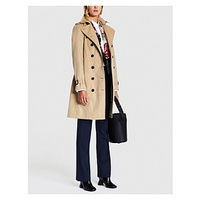 BURBERRY Sandringham double-breasted cotton-gabardine trench coat