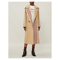 BURBERRY Striped cotton trench coat