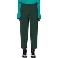 Green Cropped Trousers