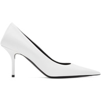 White Square Knife Heels