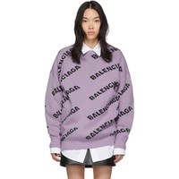 Purple All Over Logo Sweater