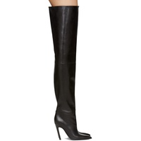 Black Leather Over-the-Knee Boots