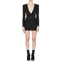 Balmain Metallic V-Neck Dress