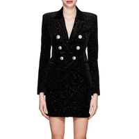 Balmain Velvet Double-Breasted Blazer