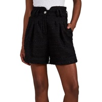 Balmain Metallic Tweed High-Waist Shorts