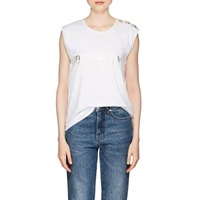 Balmain Logo Cotton Sleeveless T-Shirt