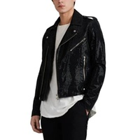 Balmain Jewel-Embellished Denim Moto Jacket