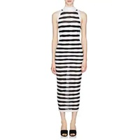 Balmain Striped Knit Sleeveless Long Dress