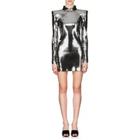 Balmain Mirror-Embellished Fitted Minidress