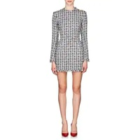 Balmain Fringed Tweed Minidress