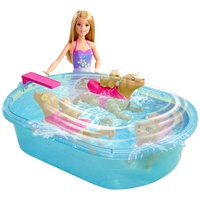 Barbie Swimmin Pup Pool Set