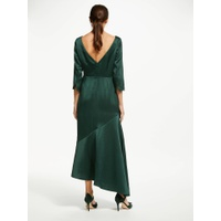 Boden Rebecca Satin Maxi Dress, Chatsworth Green