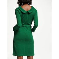 Boden Estella Jacquard Dress, Amazon Green