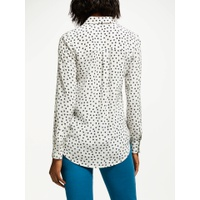 Boden The Silk Shirt, Ivory/Navy