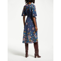 Boden Emilie Printed Midi Dress, Navy