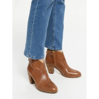 Boden Hoxton Heeled Ankle Boots, Tan Leather