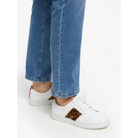 Boden Classic Trainers, Tan Leopard Leather