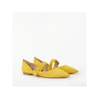 Boden Evie Pointed Mary Jane Pumps, English Mustard Suede