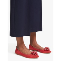 Boden Belle Ballerina Pumps, Post Box Red Suede