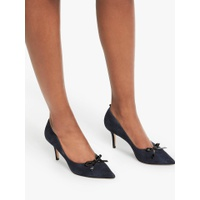Boden Eleanor Bow Court Shoes, Navy Suede, Navy Suede