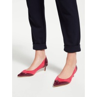 Boden Rosamund Stiletto Kitten Court Shoes, Pop Peony Leather