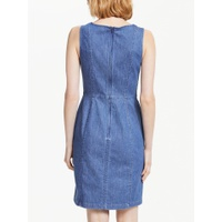 Boden Helena Chino Dress, Blue Denim