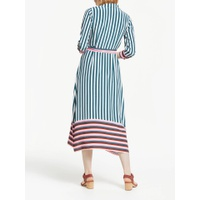 Boden Mallory Midi Shirt Dress, Green/Multi