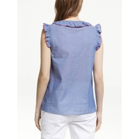 Boden Laurie Tassel Top, Light Chambray