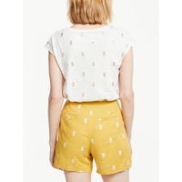Boden Robyn Pineapple T-Shirt, Ivory/Gold