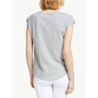 Boden Robyn Sequin T-Shirt, Grey Marl Sequin