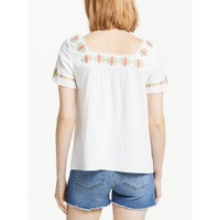 Boden Clemmie Embroidered Top, Ivory
