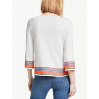 Boden Colette Embroidered Jumper, Ivory