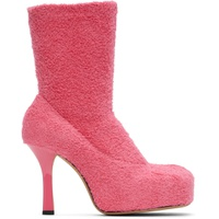 Pink Knit 'The Bold' Boots
