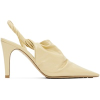 Beige 'The Point' Mules