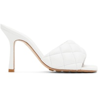 White Padded Heeled Sandals