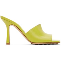 Green Stretch Heeled Sandals