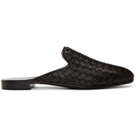Bottega Veneta Black Intrecciato Slippers