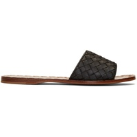 Bottega Veneta Black Intrecciato Sandals