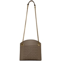 Bottega Veneta Taupe Intrecciato Shoulder Bag