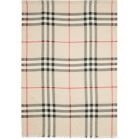 Beige Giant Check Scarf